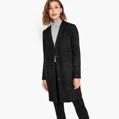 Пальто из полушерстяной ткани с волокнами с металлическим блеском Vila