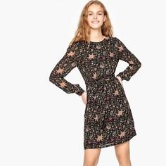 Платье короткое прямое с цветочным рисунком SEE U Soon
