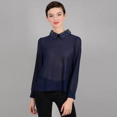 Блузка с украшением на вырезе и длинными рукавами Molly Bracken