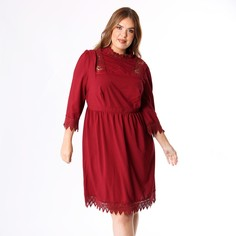 Платье расклешенное средней длины со вставками макраме Lovedrobe