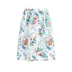 Юбка длиной до колен с цветочным рисунком Yumi