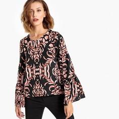 Блузка с вырезом-лодочкой и широкими рукавами Vero Moda