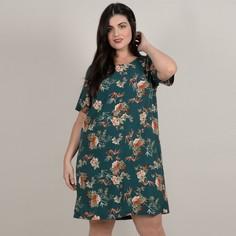 Платье с короткими рукавами и цветочным рисунком Gabrielle