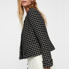 Куртка короткая с круглым вырезом из твида Vero Moda
