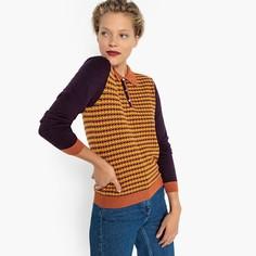 Пуловер с воротником-поло из жаккардового трикотажа Mademoiselle R