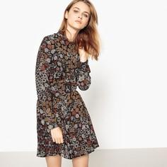 Платье короткое расклешенное с цветочным рисунком SEE U Soon