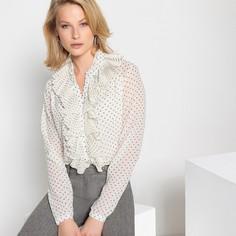 Рубашка с рисунком в горошек и длинными рукавами Anne Weyburn