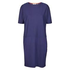Платье прямое средней длины с рисунком и короткими рукавами Numph
