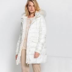 Куртка стеганая средней длины с капюшоном, зимняя модель Anne Weyburn