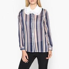 Рубашка в полоску прозрачная с большим белым воротником Sister Jane
