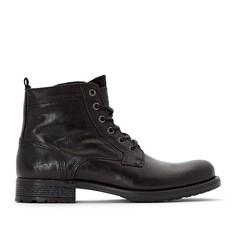 Ботинки кожаные на шнуровке Mustang Shoes