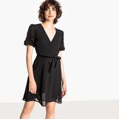Платье короткое расклешенное с короткими рукавами Mademoiselle R