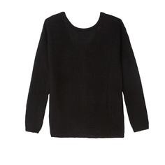 Пуловер с V-образным вырезом сзади и длинными рукавами SEE U Soon