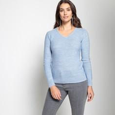 Пуловер с V-образным вырезом из плотного трикотажа Anne Weyburn