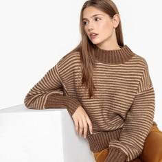 Пуловер объемный с круглым вырезом из плотного трикотажа SEE U Soon
