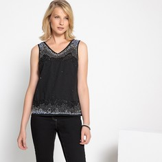 Блузка с блестками и V-образным вырезом Anne Weyburn