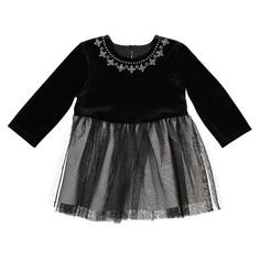 Платье из 2 материалов: тюль и велюр, 1 мес. - 3 года La Redoute Collections