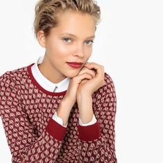 Пуловер жаккардовый с круглым вырезом Mademoiselle R