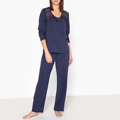 Пижама из модала и кружева La Redoute Collections
