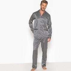b7d120b56ec0 Пижама-жакет из атласа в полоску, пиджачный воротник La Redoute Collections