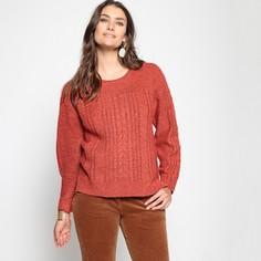 Пуловер с узором косы из плотного трикотажа Anne Weyburn