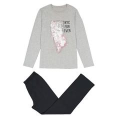 Пижама из хлопка с принтом New-York 10 - 16 лет La Redoute Collections