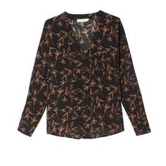 Блузка с V-образным вырезом, цветочным рисунком и длинными рукавами SEE U Soon