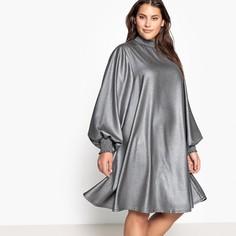 Платье средней длины, воротник и низ рукавов со сборками Castaluna
