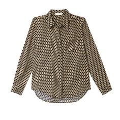Рубашка с геометрическим принтом и длинными рукавами SEE U Soon