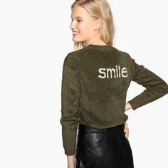 Пуловер с круглым вырезом с контрастным принтом сзади SEE U Soon
