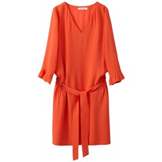 Платье из струящейся ткани с поясом SEE U Soon