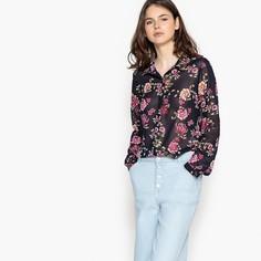 Рубашка прямого покроя с воротником-поло и цветочный рисунком Best Mountain