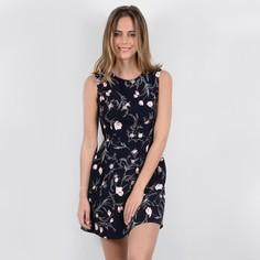 Платье короткое расклешенное с цветочным рисунком Molly Bracken