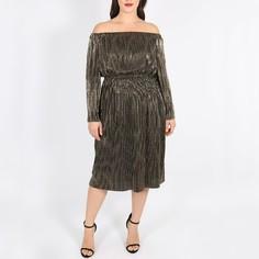Платье миди прямое, рукава 3/4 Lovedrobe