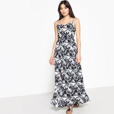 Платье длинное с цветочным рисунком на тонких бретелях Kaporal 5