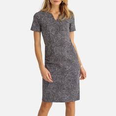 Платье прямое из сатина стрейч средней длины Anne Weyburn