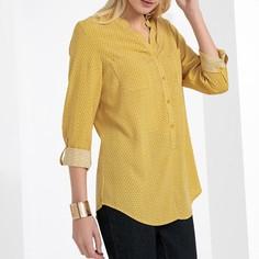 Блузка с принтом, V-образный вырез, струящаяся ткань Anne Weyburn