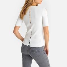 Пуловер с V-образным вырезом из трикотажа Anne Weyburn