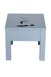 Голубой стул с рисунком Bloomingville