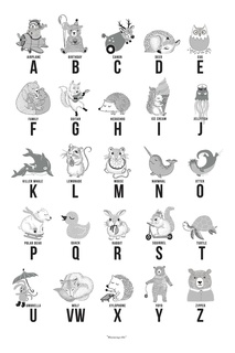 Детский постер с алфавитом Bloomingville
