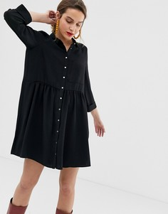 Черное платье-рубашка River Island - Черный