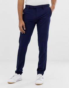 Синие эластичные брюки слим United Colors Of Benetton - Синий