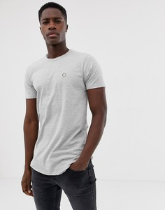 Длинная футболка с необработанными краями Le Breve - Серый