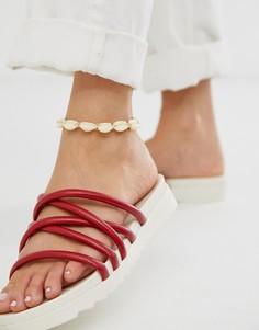 Браслет на ногу с искусственными ракушками ASOS DESIGN - Золотой