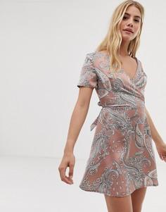 Платье с принтом пейсли Parisian - Розовый
