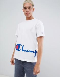 Белая футболка с крупным логотипом Champion - Белый