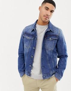 Джинсовая куртка зауженного кроя G-Star 3301 - Синий