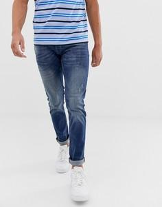 Выбеленные узкие джинсы Solid - Синий !Solid