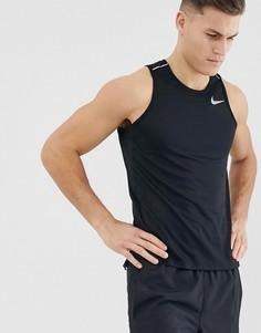 eeb8a6807b33 Черная майка Nike Running miler - Черный