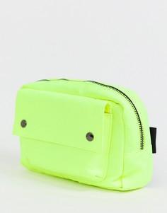 Неоново-желтая сумка-кошелек Bershka - Желтый